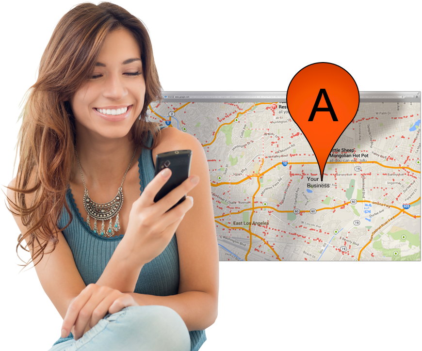 girl-phone-local-seo-search-google-map